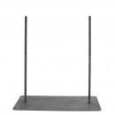 Metall Bodenplatte Länge 32cm, Breite 20cm, rost,